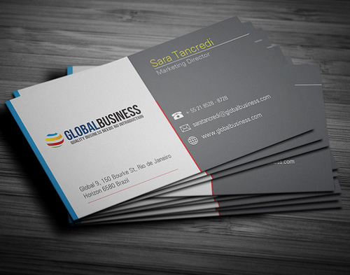 20 best corporate business cards designs for your inspiration for Corporate business card designs