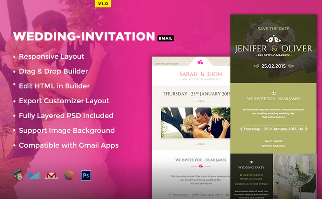 Trending html email newsletter template 2017 wedding invitation email template stopboris Image collections