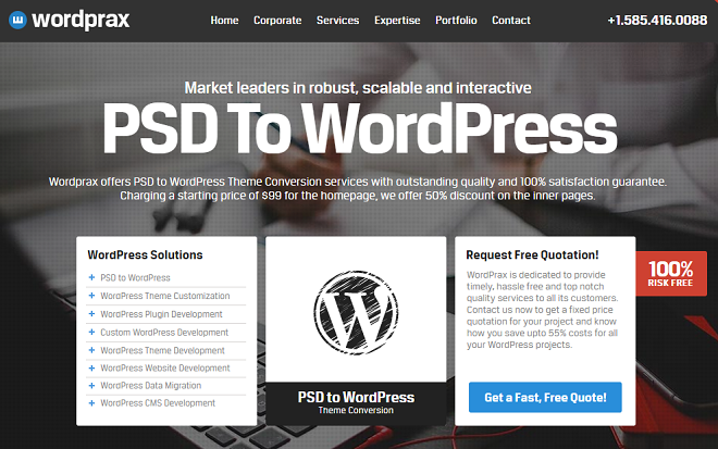 WordPrax- PSD to WordPress Company