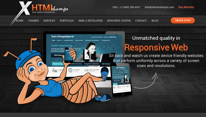 XhtmlChamps- PSD to WordPress Company