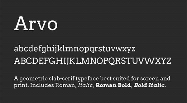 Top 8 Google Web-Fonts for Strong Header Text