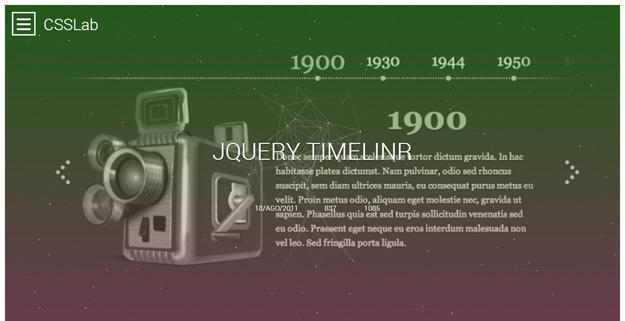 jQuery Timelinr